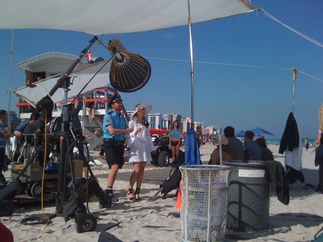 Filming a Movie in Miami