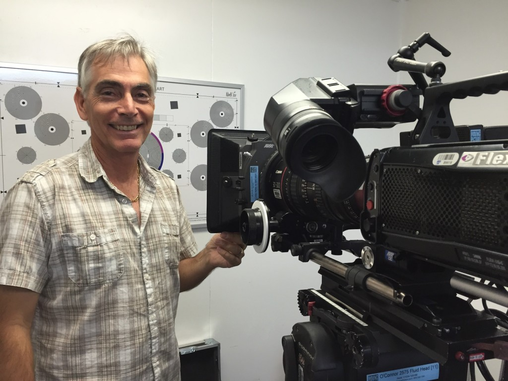 Phantom Tech, Steve Ciffone during the camera checkout at Moving Picture.